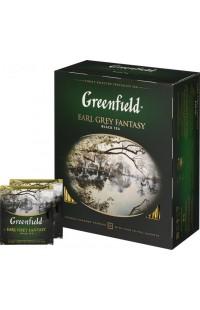Черный чай в пакетиках Greenfield Earl Grey, 100 пакетиков